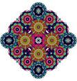 colored mandala floral decorative element vector image