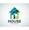 Home real estate logo template vector image
