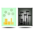 Picture of green and black city vector image