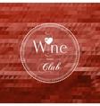 Wine club concept label vector image
