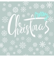 Merry Christmas blue and white lettering design vector image