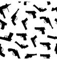 guns set seamless pattern vector image vector image
