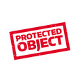 protected object rubber stamp vector image