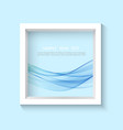 square 3d photo frame with sample content vector image