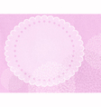 Gentle pink grungy frame vector image vector image