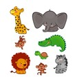 The cute African animals vector image