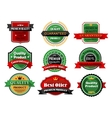 Best offer and quality product flat labels vector image vector image