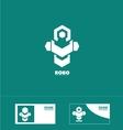 Abstract robot technology logo vector image