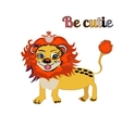bE CUTIE lion FOR PRINT kid s book vector image
