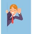 Eavesdropping Listen Overhear Spy Out Corner vector image