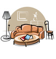 interior with sofa vector image