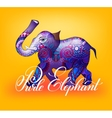 purle elephant decorative 3d vector image
