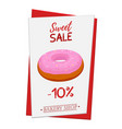set of pastry poster banner for sale of donut vector image