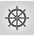 The ship steering wheel icon Sailing symbol Flat vector image