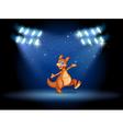 A kangaroo under the spotlights vector image vector image