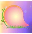 bright greeting card vector image