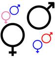 symbol of gender symbol mars and venus vector image