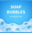 shampoo foam with bubbles soap sud vector image