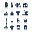 Cleaning blue icons vector image vector image