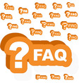 Faq vector image