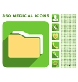 Folders Icon and Medical Longshadow Icon Set vector image