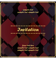 invitation card with decorative color shapes vector image