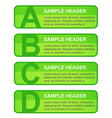 ABCD Options Blocks vector image