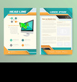 Abstract Brochure Template Flyer Layout Flat Style vector image