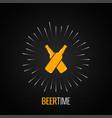 beer bottles logo concept design background vector image
