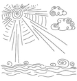 clear Sunny weather on the sea vector image
