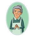 elderly woman characters vector image