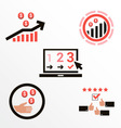 Icons of different bonuses of commerce vector image
