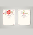 Retro beautiful flower invitation banners vector image
