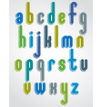 Rounded cartoon colorful lowercase letters with vector image