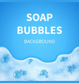 shampoo foam with bubbles soap sud vector image