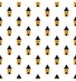 Simple yellow and black houses seamless pattern vector image