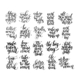 black and white inspirational phrase set positive vector image