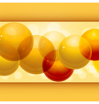 3d spheres panel vector image vector image