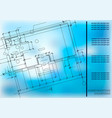 construction plan architectural background vector image