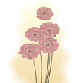 Decorative bouquet of pink roses vector image