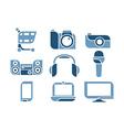 electronics Icons set vector image