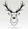 Tribal Deer Head vector image