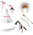 Native american set six icons vector image