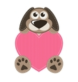 Dog with heart vector image vector image