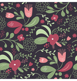 seamless beautifull pattern with flowers vector image vector image