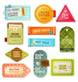 Fabric Label Set vector image