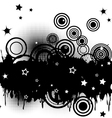 Circles and stars vector image vector image
