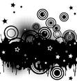Circles and stars vector image