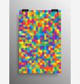 color puzzle pieces - jigsaw - vector image