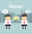 Friday Business man to toast with beer vector image